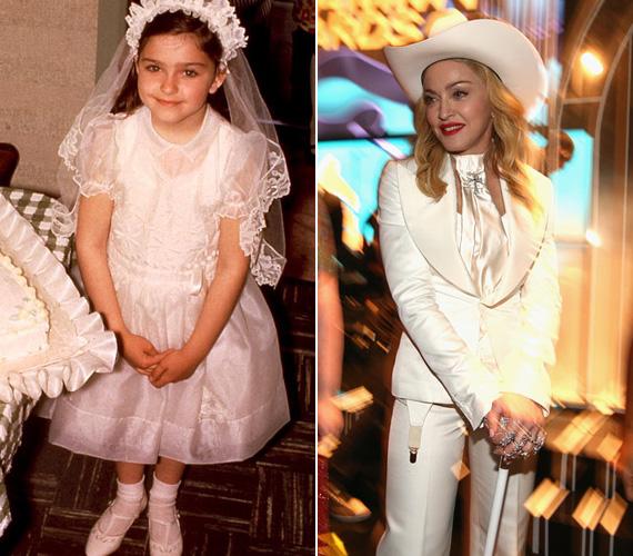 Madonna is szigorú vallásos nevelésben részesült - talán ez ellen lázad még így 50 fölött is. Mindenesetre neve már márka, dalai megszámlálhatatlan slágerlistán szerepeltek, ő maga pedig bárhova megy, lesifotósok százaival néz farkasszemet.