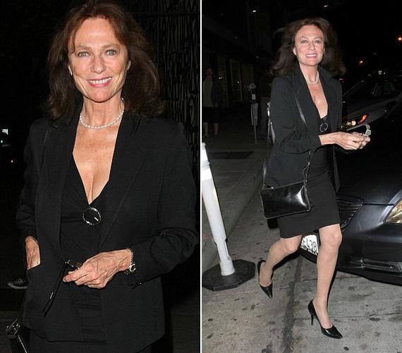 Jacqueline Bisset színésznő vállalja a ráncait, mégis dögös még 70 évesen is. A hetvenes évek szexszimbólumát egy vacsorára indulva fotózták le a lesifotósok Los Angelesben csütörtökön, és láthatóan remekül nézett ki fekete szettjében, mely kihangsúlyozta a dekoltázsát is.