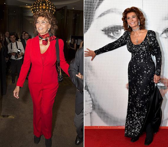 Elképesztő, hogy Sophia Loren még 80 évesen tudja, hogyan vonhatja magára a figyelmet. Az olasz sztár Melbourne-ben volt a hétvégén - a fekete ruhát egy jótékonysági gálán viselte szombaton, míg a vörös szerelésben pénteken jelent meg a La Dolce Italia fesztivál sajtótájékoztatóján.