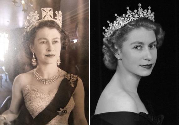 Édesapja korai halála miatt Erzsébetet 1953-ban, 25 évesen koronázták királynővé. Ilyen gyönyörű volt az ünnepségen.