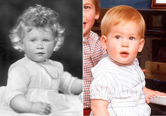 A fotón Harry herceg megszólalásig hasonlít Erzsébet királynőre, még a pisze orruk is teljesen egyforma.