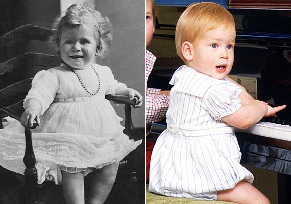 A huncutság azért megvolt mindkét kisbabában. Igaz, Harry hercegben ez felnőttkorára is megmaradt.