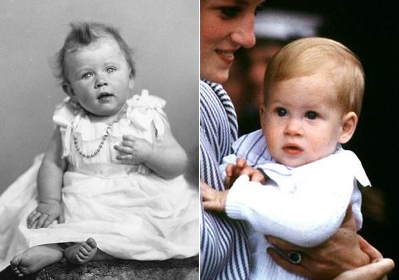 Kisbabaként meg Erzsébet és Harry is ugyanazzal az őzikéket megszégyenítően riadt tekintettel meredt a világra.
