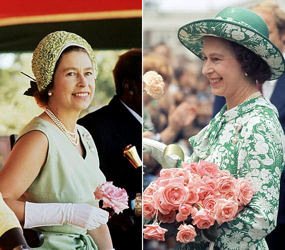 Ezek a felvételek a hetvenes években készültek a királynőről. 1977-ben a királynő országos körúttal és nemzetközösségi látogatásokkal ünnepelte uralkodásának 25 éves jubileumát.