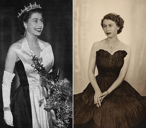 1952. február 6. óta Nagy-Britannia uralkodója: fiatalon igazi szépség volt.