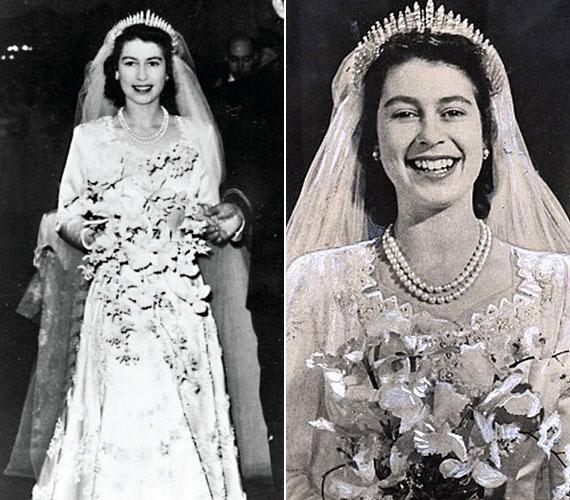 1947. november 20-án vezette oltár elé Fülöp edinburgh-i herceg, aki egyébként a harmad-unokatestvére. Házasságukból négy gyermek született: Károly walesi herceg, Anna brit királyi hercegnő, András yorki herceg és Eduárd wessexi gróf.