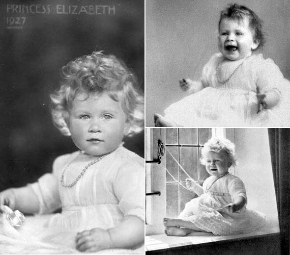 Mint a fotó is mutatja, 1927-ben készültek a felvételek II. Erzsébetről, aki 1926. április 21-én jött világra.