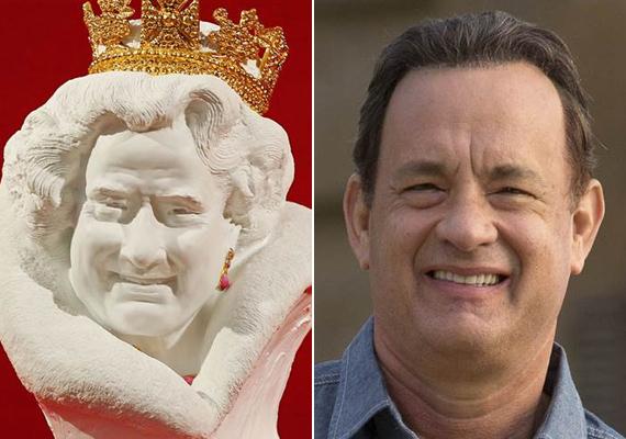 A kommentelők szerint a portré nem a királynőt, hanem Tom Hankset ábrázolja. A színész fotóját elnézve, nem alaptalan a kijelentésük.
