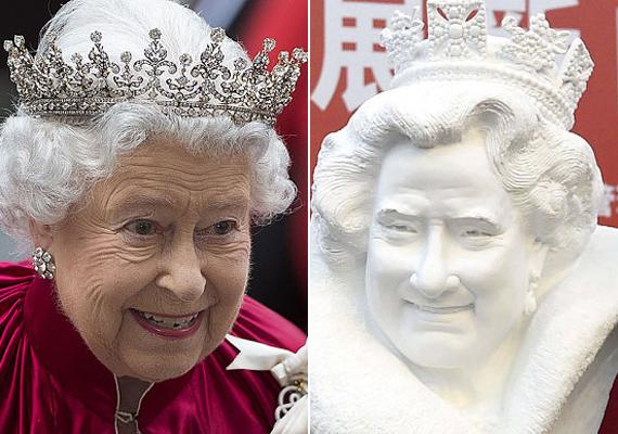 Ha nem tudnánk, kit ábrázol a kép, rá nem jönnénk, hogy a művész Erzsébet királynőt formálta meg. Pedig Dapeng állítása szerint több száz fotót, videót és még kekszesdobozokon lévő portrékat is felhasznált művéhez.