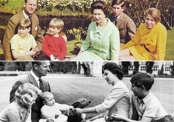 68 éves házasságuk alatt Erzsébet négy csodás gyermekkel ajándékozta meg Fülöp herceget. Első gyermekük Károly, a walesi herceg és a trón várományosa, utána következett Anna hercegnő, majd Edward herceg és András, York hercege.