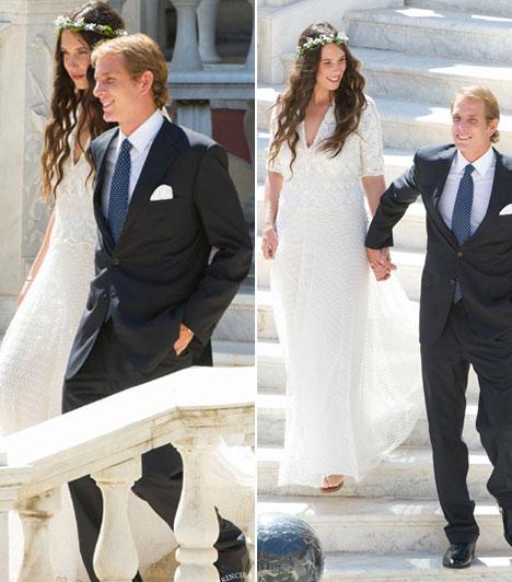 Andrea Casiraghi  Monacóban is esküvőnek örülhettek az alattvalók: augusztus 31-én a megnősült Andrea Casiraghi, Caroline monacói hercegnő idősebbik fia. A nyilvánosság teljes kizárásával vette el Tatiana Santo Domingót, márciusban világra jött kisfia anyját.  Kapcsolódó cikk: Rendhagyó esküvői fotók »