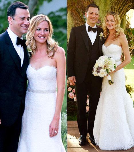 Jimmy KimmelAz amerikai talk show sztár július 13-án egy Santa Barbara-i hotel kertjében vette feleségül barátnőjét, Molly McNearney-t. A ceremónián számos sztár tiszteletét tette.Kapcsolódó cikk:A népszerű műsorvezető így vette el szerelmét »