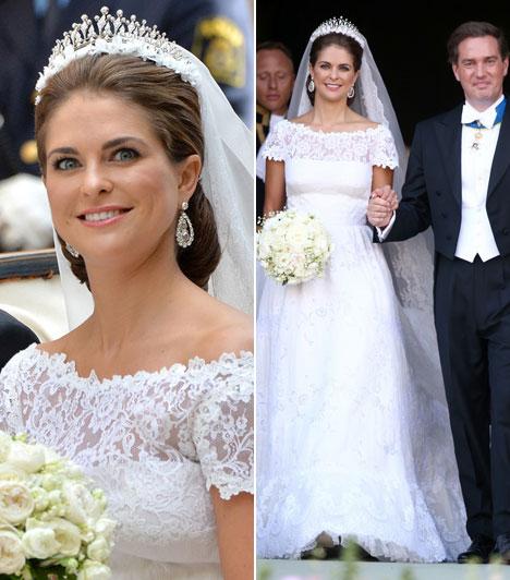 Madeleine svéd hercegnő  Az év egyik legjobban várt frigye volt Madeleine svéd hercegnő és a New York-i üzletember, Christopher O'Neill esküvője, melyre június 8-án Stockholmban került sor.  Kapcsolódó cikk: Elbűvölő volt esküvőjén a svéd hercegnő »