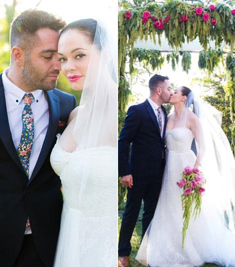Rose McGowanAz olasz születésű amerikai színésznő egy év együttjárás után, 2013 júliusában lett a művész Davey Detail menyasszonya. Az esküvővel nem vártak sokat, október 12-én egybe keltek Los Angelesben.
