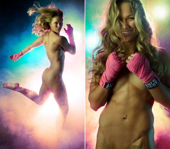 A 25 éves atléta, Ronda Rousey szintén levetkőzte gátlásait a művészi aktok kedvéért.
