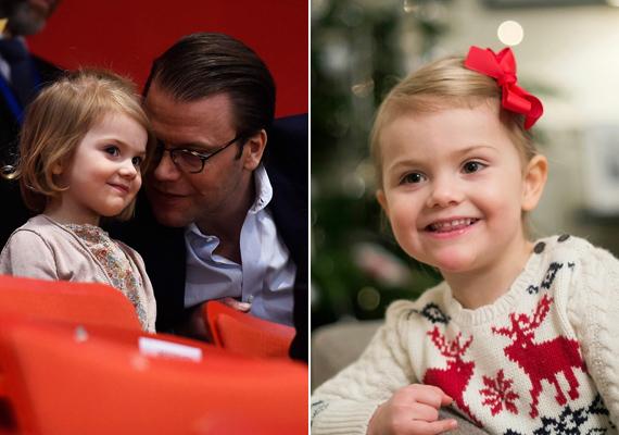 Hatalmasat nőtt a kis hercegnő, mióta nem láthattuk! Apja mellett már kész hölgynek tűnik.