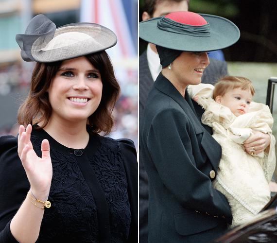 Eugénia hercegnő már kilenc hónapos volt, amikor megkeresztelték a St. Mary Magdalene-templomban 1990 decemberében. A trónöröklési rendben jelenleg a nyolcadik helyen áll. Anyai ágon rokona Diana hercegnőnek.