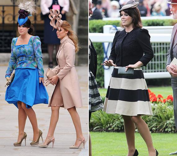A kalapviselés divatja igazi brit szokás, Eugénia látványos fejfedőben jelent meg nővérével, Beatrixszal Katalin hercegnő és Vilmos herceg esküvőjén 2011-ben, de 2013 nyarán, az ascoti derbin is kalapot viselt.
