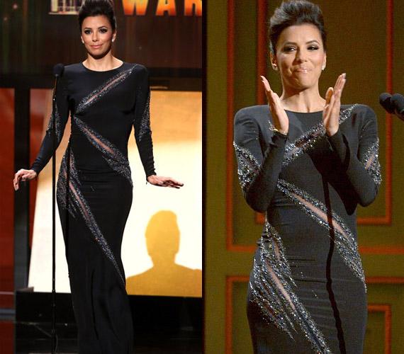 A sejtelmesen behasított ruha nem hagyott kétséget a színésznő tökéletes alakját illetően.