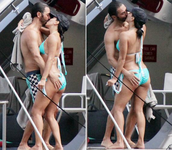 Eva Longoria és barátja hevesen csókolóztak egy jachton, a férfi közben jól megmarkolászta a színésznő formás hátsóját. Az sem zavarta őket, hogy fotósok lestek rájuk.