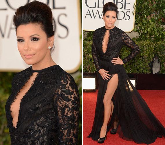 A 2013-as Golden Globe-gálán ebben a csipke és tüll találkozásából varázsolt Emilio Pucci estélyiben tündökölt.