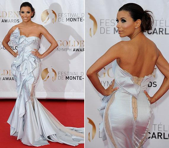 Az elegáns, nőies stílusáról híres színésznő júniusban ebben a mesés ruhakölteményben lépett a vörös szőnyegre Monte Carlóban.