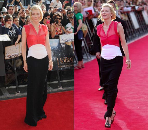 A hobbit - Váratlan utazás című film bemutatójának másik sztárja Cate Blanchett volt.