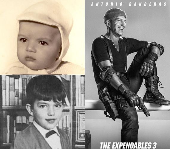 Antonio Banderas már pöttömként igazi kis macsóként lesett a kamerába, biztosan már az oviban küzdöttek a kegyeiért a kislányok. Az 1960-as születésű spanyol színész azóta olyan filmekben csillantotta meg ellenállhatatlan sármját, mint a Desperado, a Bérgyilkosok, de ő volt a Shrekben Csizmás, a kandúr hangja is.