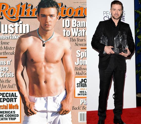 Justin Timberlake 2003-ban villantotta meg izmos felsőtestét a magazinban, jelezve, hogy nagy változások következnek - és valóban. A zenei pályafutását az NSYNC-ben kezdő sztár akkoriban már igyekezett a szólókarrierjére koncentrálni, miután a fiúbanda 2002-ben feloszlott. Debütáló albuma, a Justified 2002 év végén jelent meg, erről való a Cry Me a River című dal, ami Britney Spears-szel folytatott szerelmi kapcsolata egyfajta lezárásának tekinthető. Az énekes 2003-ban már egy másik szőkeséggel, Cameron Diazzal randizgatott.