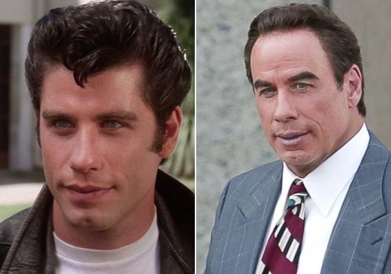 John Travolta helyett mintha a saját, rosszul sikerült viaszszobrát látnánk. Hol van már a lányok kedvence, Danny Zuko?