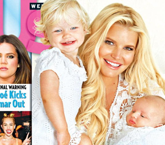 Jessica Simpson második gyermekének adott életet június végén, képet a kicsiről azonban csak most közöltek.