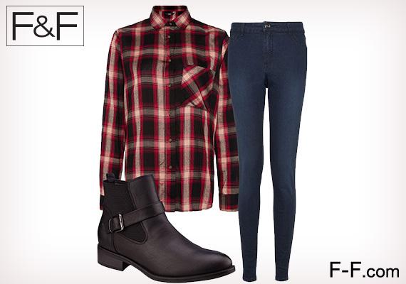 Kockásban                         A piros-fekete kockás trend a női gardróbba is belopja magát. Skinny farmerrel és bokacsizmával tökéletes hétköznapi viselet egy ilyen felső.