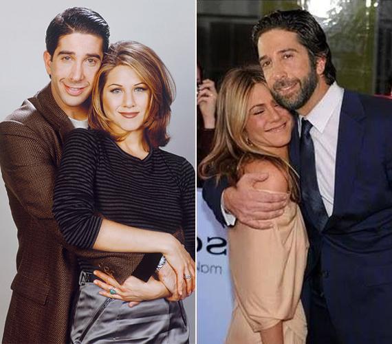 A 48 éves David Schwimmer és a 46 éves Jennifer Aniston 1994 és 2004 között játszották leghíresebb szerepüket, a Jóbarátok című sorozat szerelmespárját, Rosst és Rachelt. Bár a friss képen éppen ölelgetik egymást, felröppent a pletyka, amely szerint Jennifer már nem szívesen barátkozik Daviddel.