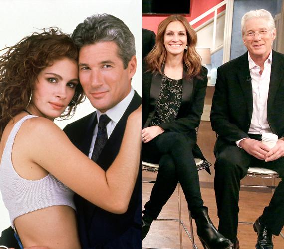 A napokban volt 25 éves a világ egyik leghíresebb romantikus vígjátéka, a Micsoda nő!, amelyben az akkor 22 éves Julia Roberts és 40 éves Richard Gere játszották a főszerepet. Az évforduló alkalmából a stáb újra találkozott, hogy interjút adjanak a Today Show-ban. A jobb oldali kép ekkor készült.