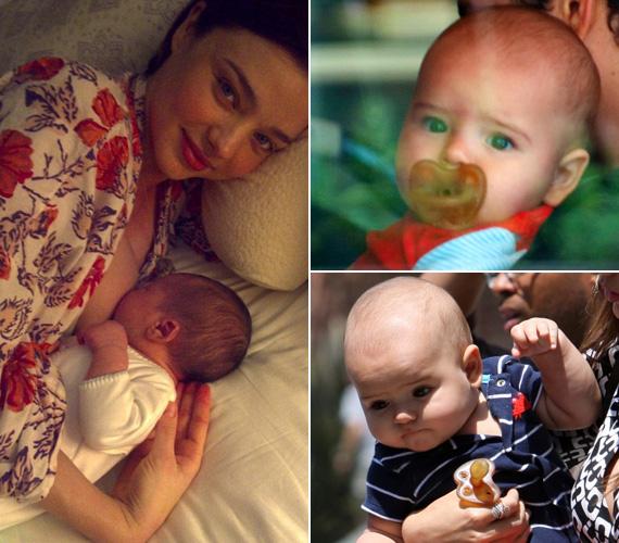 29 éves, ausztrál fotómodell feleségéről és kéthetes kisfiáról a bal oldali fotót maga az angol színész töltötte fel a netre. Flynnt aztán később a lesifotósok is előszeretettel örökítették meg.