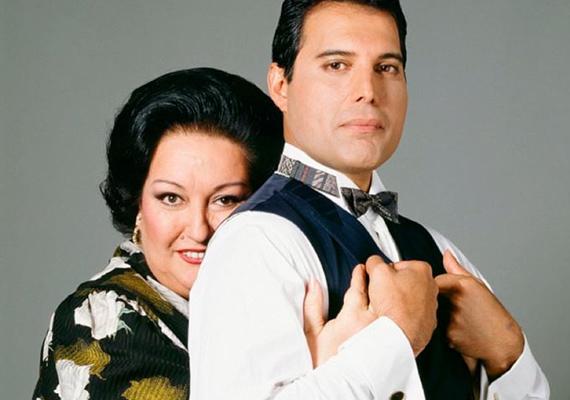 Montserrat Caballe és a gömbölyded Freddie. Az szoprán énekesnő felkérte a Queen frontemberét, hogy írjon egy dalt szülőhazájáról. Freddie örömmel fogadta a kérést, és megszületett a milliós lemezeladást produkáló duett, a Barcelona.