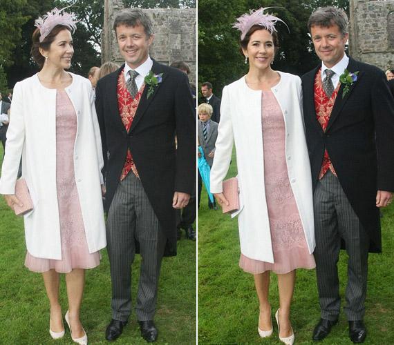 Rózsaszín csipkebetétes ruhájával Mária hercegnő ismét lenyűgözte az egybegyűlteket.