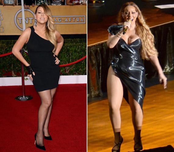 Mariah Carey januárban még csinosan és magához képest visszafogottan öltözködött, ám október végén kínai turnéján már elvetette a sulykot.