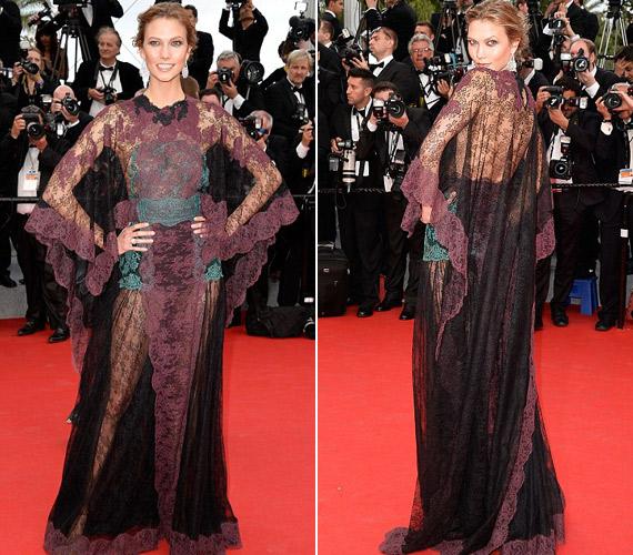 Karlie Kloss ruhája megosztotta a közönséget a cannes-i fesztiválon májusban, egyesek szerint úgy néz ki, mintha a függönyt rángatta volna magára.
