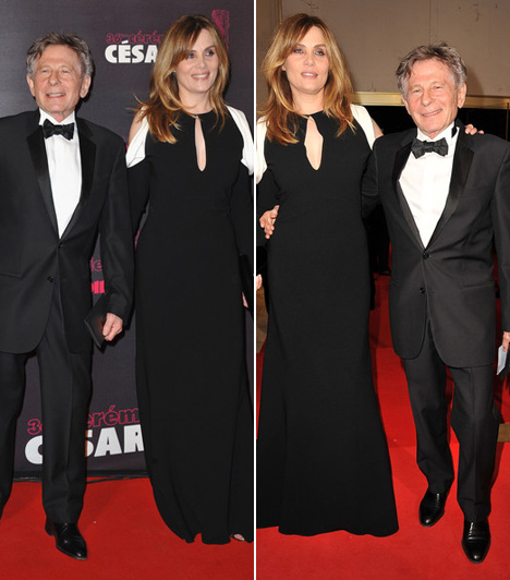 Roman Polanski és Emmanuelle Seigner  Roman Polanski felesége, Emmanuelle Seigner francia színésznő hét és fél centiméterrel magasabb - és 33 évvel fiatalabb a rendezőnél.