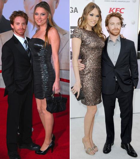 Clare Grant és Seth Green  A vígjátékok 162 centis sztárja, Seth Green mellett a színésznő Clare Grant úgy néz ki, mintha nem a felesége lenne az Astin Powers szereplőjének, hanem a testőre.