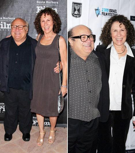Danny DeVito és Rhea Perlman  A népszerű komikus, Danny DeVito mindössze öt centiméterrel alacsonyabb a hozzá már 30 éve hű színésznő feleségnél, Rhea Perlmannél, ám ez egy 150 centiméteres, pocakos férfi esetében komoly különbségnek tűnik.