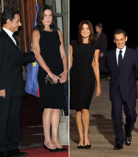 Nicolas Sarkozy és Carla Bruni  A 165 centiméter magas francia miniszterelnök, Nicolas Sarkozy állítólag betétes cipőt hord, ám még így is gyakran nevezi a sajtó kis törpének, ha tíz centiméterrel magasabb színésznő-modell feleségét, Carla Brunit karon fogva jelenik meg valahol.