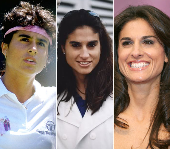 Az argentin Gabriela Sabatini 6 évesen már teniszezett, 15 éves volt, amikor belépett a profi tenisz világába - annak ellenére, hogy saját bevallása szerint eleinte igyekezett elveszteni a meccseket, annyira félt attól, hogy ha nyer, interjút kell adnia. 1996-ban, mindössze 26 évesen vonult vissza, a legfrissebb hírek szerint Svájcban telepedett le, magánéletéről nem tudni semmit. A latin szépség jelenleg üzletasszonyként ténykedik, a saját nevével fémjelzett parfümből már 18-féle kapható.