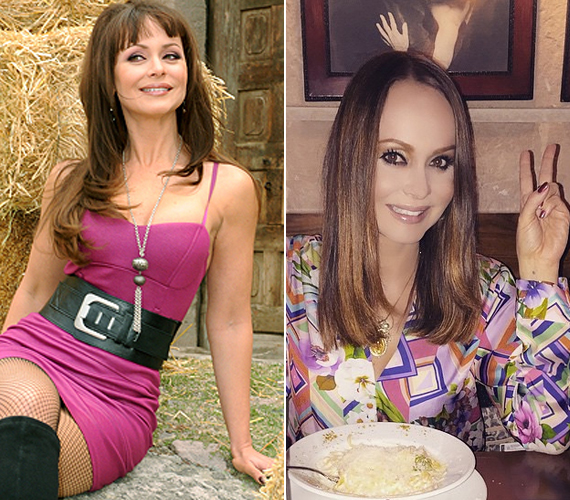 Gabriela Spanicot legutóbb A bosszú angyalában, A császárnőben, illetve 2010-ben a Riválisokban láthatta a magyar közönség. Utóbbiból látható fent, a bal oldalon egy kép, így festett Gabi a gonosz Ivana szerepében. A jobb oldalon egy friss fotója látható az Instagramról.