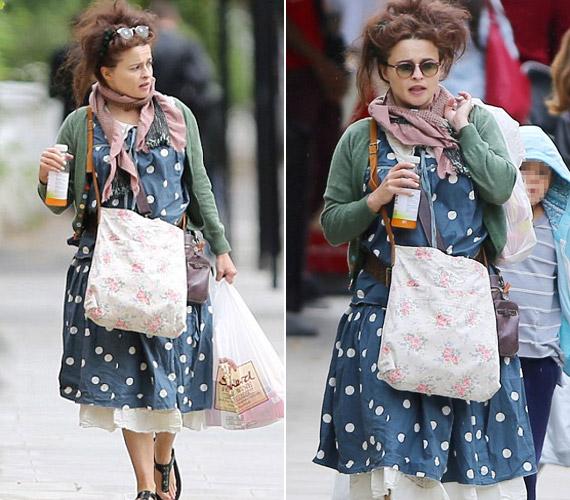 Szinte már meg sem lehet lepődni, hogy Helena Bonham Carternek megint csak egy jókora ízlésficammal sikerült felöltözni.