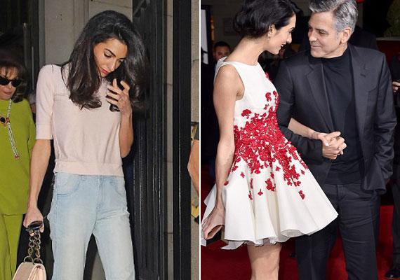 Pár hónapja még kórosan sovány volt George Clooney felesége. Azóta visszanyerte eredeti súlyát, de pár kilót még simán felszedhetne magára.