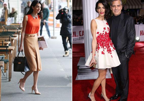 A bal oldali fotón látszik, pár héttel ezelőtt szinte már csont és bőr volt Amal. Ehhez képest kifejezetten jól nézett ki a bemutatón azzal a plusz pár kilóval.