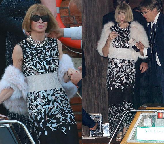 A Vogue magazin főszerkesztője,Anna Wintour sem hiányozhatott az ünneplők közül.