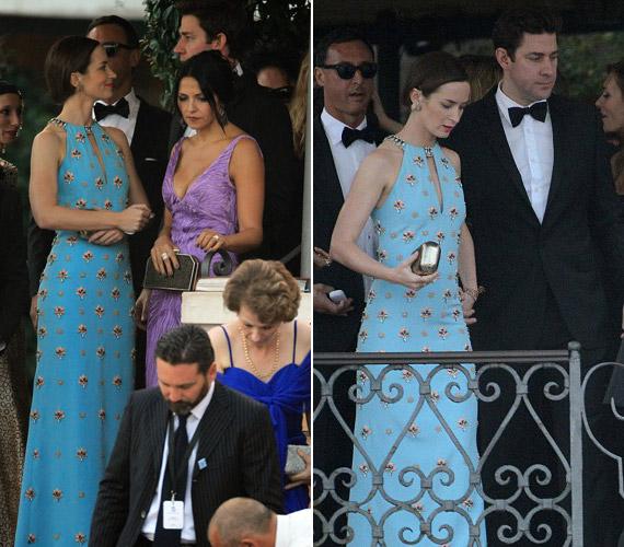 Emily Blunt éppen Matt Damon feleségével beszélget.